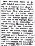 Dick Shearman heads up AAU bobsled committee. December 30, 1958.