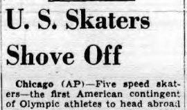 U.S. Skaters Shove Off. December 31, 1951.