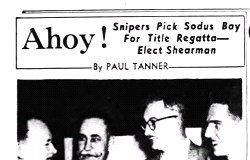 Snipers Pick Sodus Bay For Title Regatta - Elect Shearman. February 20, 1949.