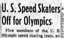 U.S. Speed Skaters Off for Olympics. January 2, 1952.