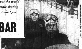 Dick Shearman sits in his bobsled. January 20, 1962.
