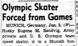 Olympic Skater Forced from Games. January 4, 1952.