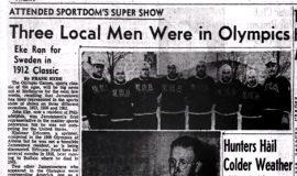 Three Local Men Were in Olympics. November 10, 1956.