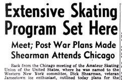 Extensive Skating Program Set Here. November 27, 1945.