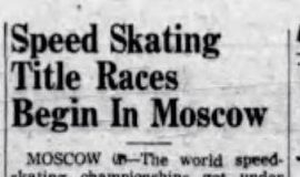 Speed Skating Title Races Begin In Moscow. February 19, 1955.