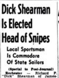 Dick Shearman Is Elected Head of Snipes. February 21, 1949.