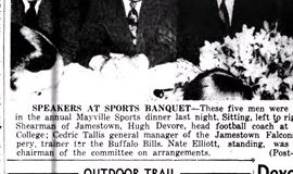 Speakers At Sports Banquet. April 2, 1949.