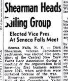 Shearman Heads Sailing Group. May 14, 1946.