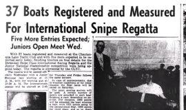 37 Boats Registered and Measured For International Snipe Regatta. August 20, 1946.