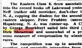E Scow 1941 Championship.