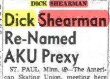 Dick Shearman Re-Named AKU Prexy. October 19, 1953.