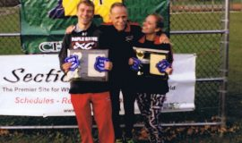 Doc with Ryan and Hope after winning 2015 sectional meet.