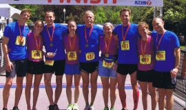 Rappole family at 2014 Famous Idaho Potato Marathon