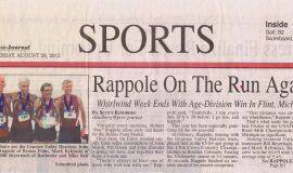 Rappole On The Run Again. August 26, 2015.