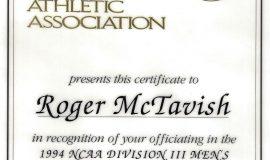 1994 Final Four certificate.
