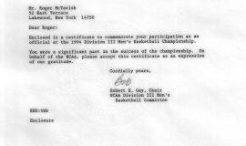 1994 Final Four letter.