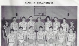 Fredonia basketball team, 1972.
