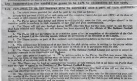 New York Giants contract offer to Sam Hammerstrom, 1940.