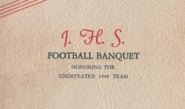 1949 JHS Football Banquet program cover.