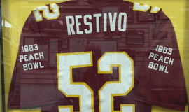 Sam Restivo's jersey.