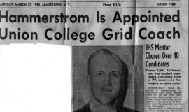 Hammerstrom Is Appointed Union College Grid Coach. Page 1. March 27, 1950.