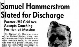 Samuel Hammerstrom Slated for Discharge. November 28, 1945.