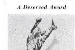 A Deserved Award. 1940.