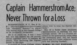 Captain Hammerstrom Ace; Never Thrown for a Loss. December 9, 1939.