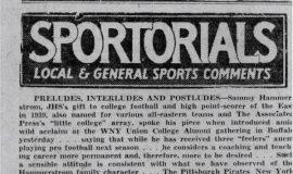 Sportorials. 1940.
