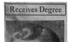 Receives Degree. 1940.
