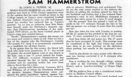 Sam Hammerstrom. November 11, 1939.