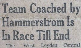 Team Coached by Hammerstrom Is In Race Till End. April 2, 1942.