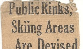 Public Rinks, Skiing Areas Are Devised.