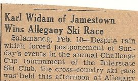 Karl Widam of Jamestown Wins Allegany Ski Race.
