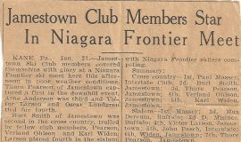 Jamestown Club Members Star In Niagara Frontier Meet.