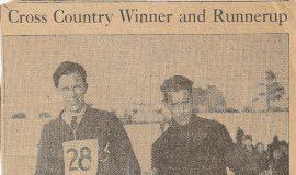 Cross Country Winner and Runnerup.