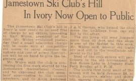 Jamestown Ski Club's Hill In Ivory Now Open to Public.