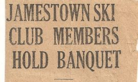 Jamestown Ski Club Members Hold Banquet.