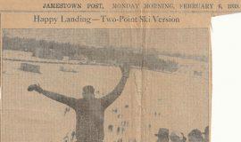 Happy Landing - Two-Point Ski Version.  February 6, 1939.