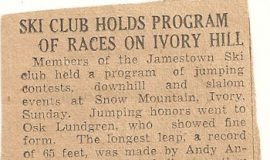 Ski Club Holds Program Of Races On Ivory Hill.