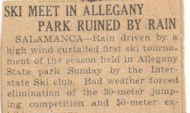 Ski Meet In Allegany Park Ruined By Rain.