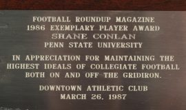 Exemplary Player Award, 1987.