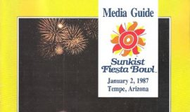 Sunkist Fiesta Bowl Media Guide, January 2, 1987.