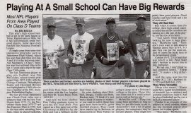 Playing At A Small School Can Have Big Rewards. Page 1. September 7, 2001.
