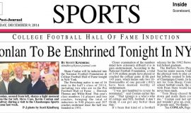 Conlan To Be Enshrined Tonight In NYC. Page 1.  December 9, 2014.