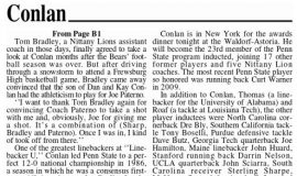 Conlan To Be Enshrined Tonight In NYC. Page 2.  December 9, 2014.