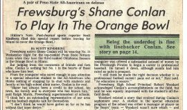 Frewsburg's Shane Conlan To Play In The Orange Bowl. 1985.