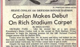 Conlan Makes Debut On Rich Stadium Carpet. 1987.