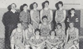 Frewsburg basketball. Shane Conlan is #43 standing in back row. 1982.