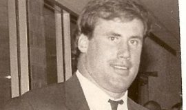 Shane Conlan at CSHOF awards banquet,  1989.